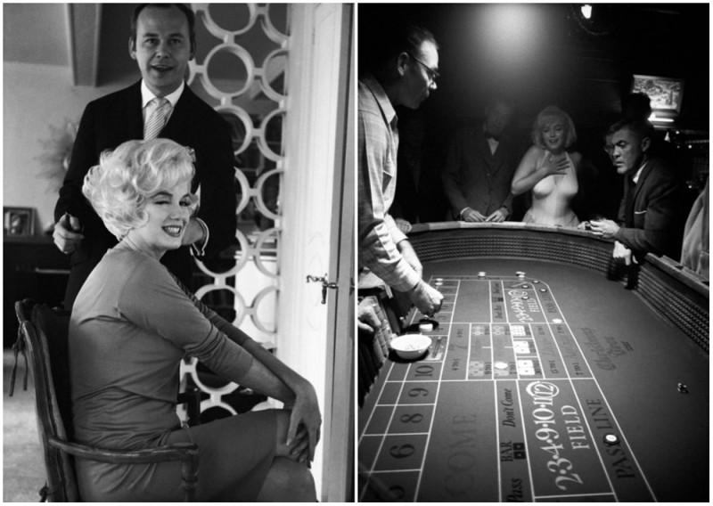 Мэрилин и ее парикмахер/Во время игры в казино.
