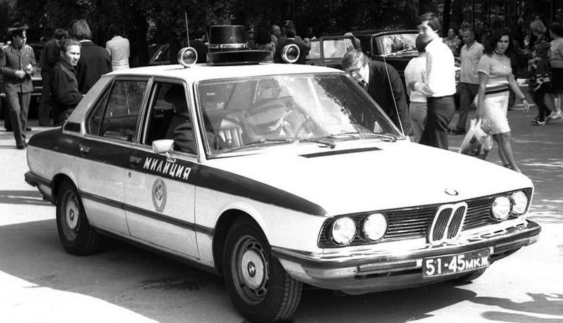 «BMW» на службе ГАИ СССР. 1980-е годы.
