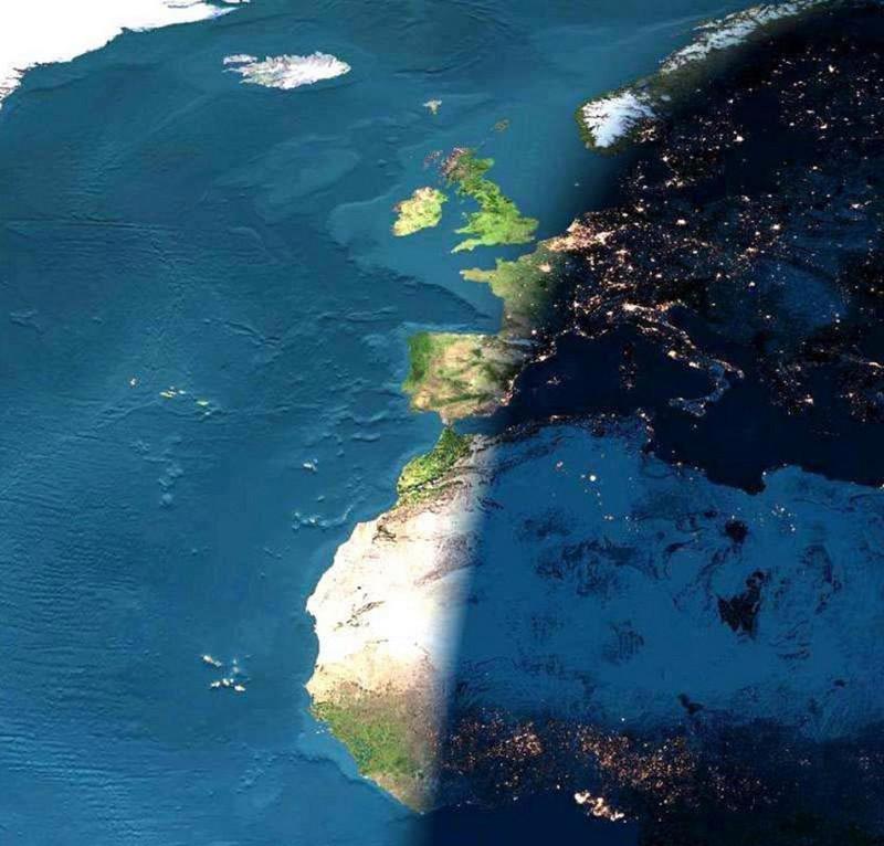 Земля днём и ночью