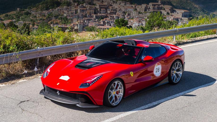 Собранный по заказу клиента, чьё имя не разглашается. Заказчик попросил Ferrari сделать особенную, открытую версию купе F12 Berlinetta. По неофициальной информации, стоимость этой уникальной машины составила более $4,2 миллиона.