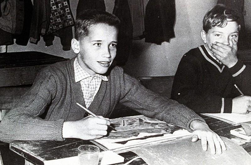 Арнольд Шварценеггер в детстве.