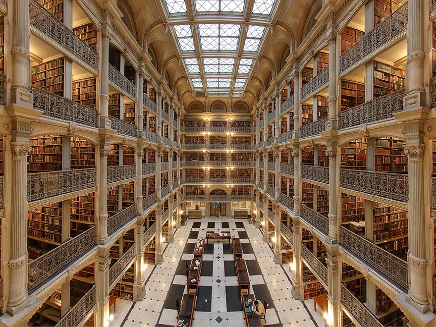 Библиотека Джордж Пибоди, Балтимор, США