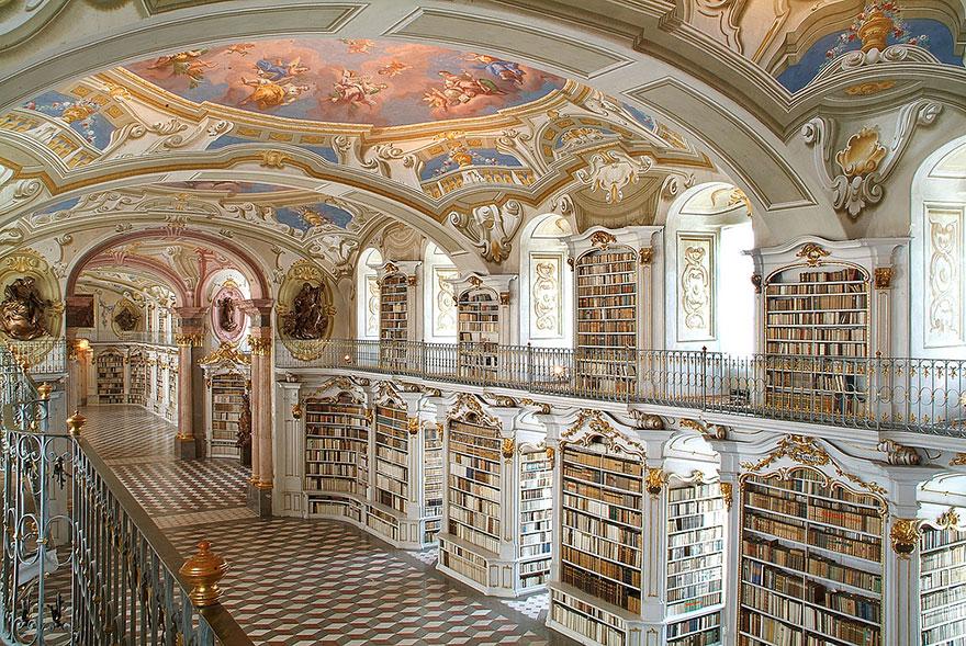 Библиотека аббатства Адмонт, Адмонт, Австрия