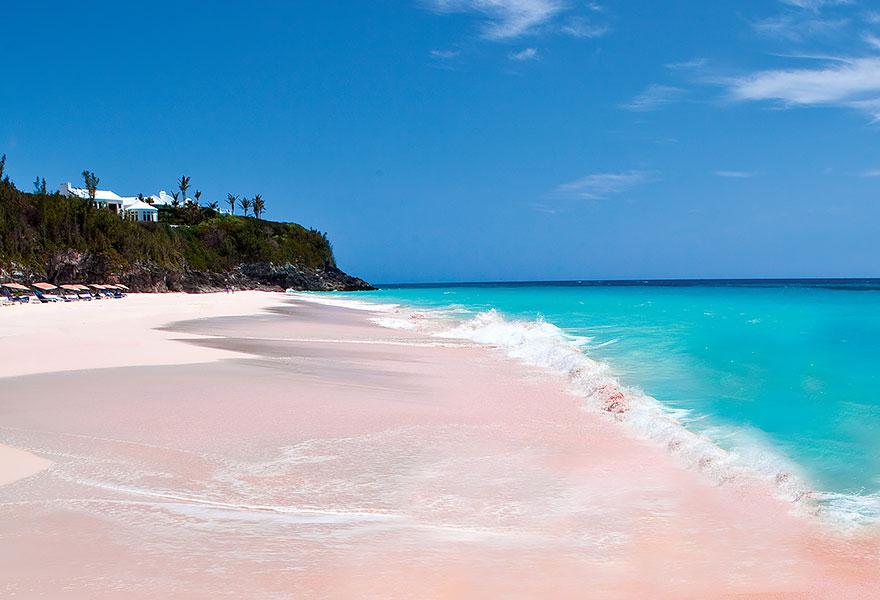 Пляж с розовым песком, Багамские острова