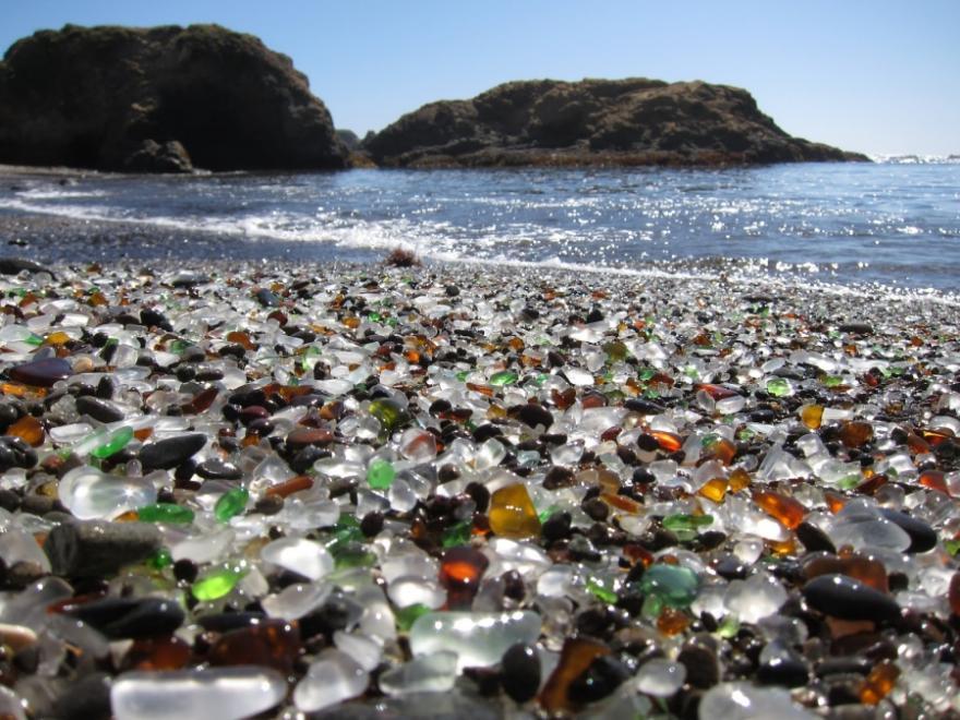 Стеклянный пляж, Форт-Брэгг, Калифорния, США