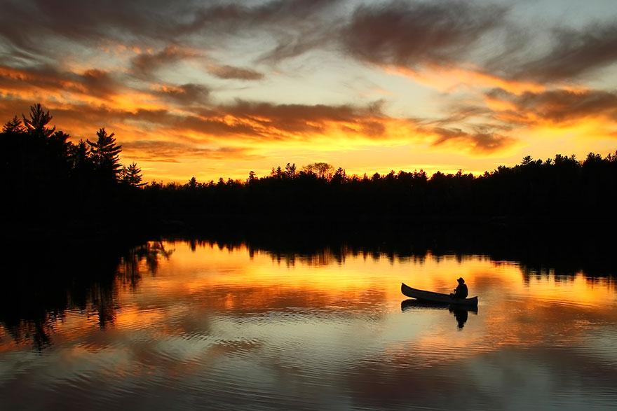 Закат, штат Миннесота, США