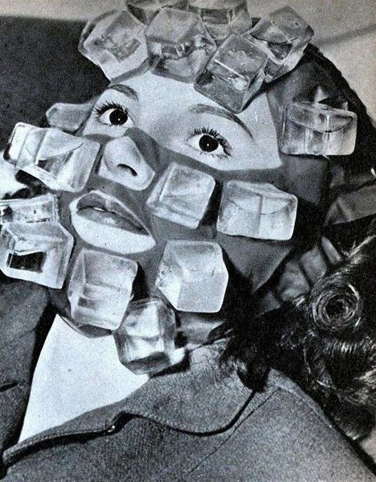 Max Factor изобрел маску, которая была оснащена рядом пластмассовых кубиков, которые можно было заполнять водой и замораживать.