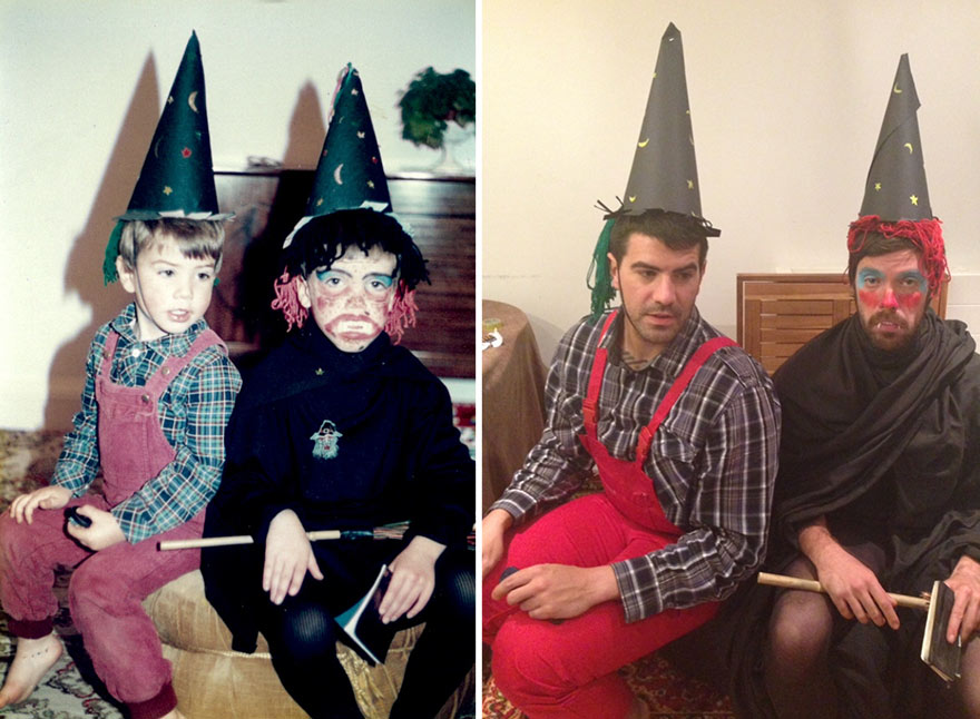 before-and-after-brothers-childhood-photos-parents-anniversary-gift-1