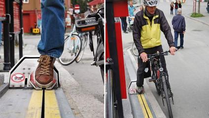 Первый в мире эскалатор для велосипедистов