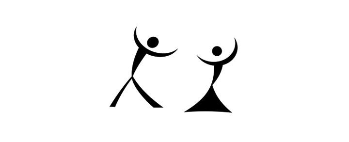 На самом деле это силуэт танцующей пары, но если смотреть под другим углом.