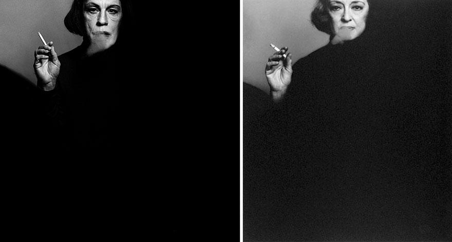 Фото Сандро Миллера/ Бетт Дейвис (1971 год). Фото Виктора Скрбнески