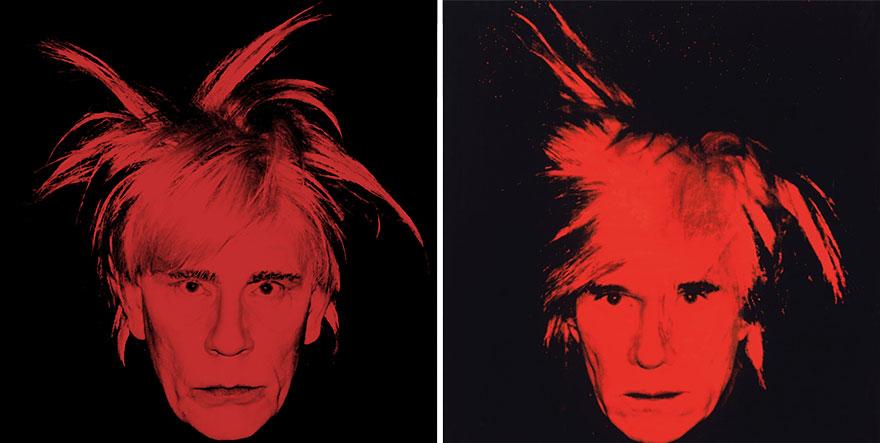 Фото Сандро Миллера/ Автопортрет (1986 год). Фото Энди Уорхола