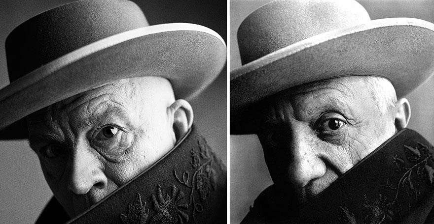 Фото Сандро Миллера/ Пабло Пикассо (1957 год). Фото Ирвина Пенна