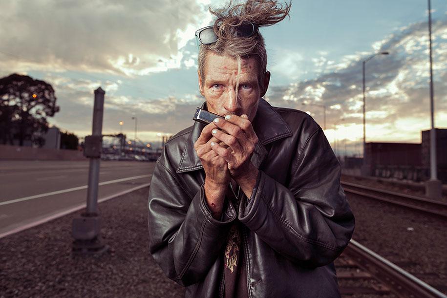 Фотограф Арон Дрейпер представил бездомных в абсолютно новом свете