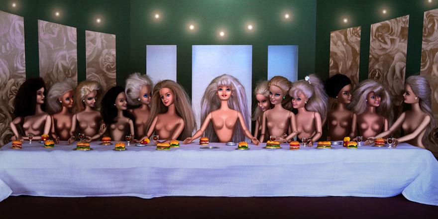 Вторжение Барби в шедевры изобразительного искусства