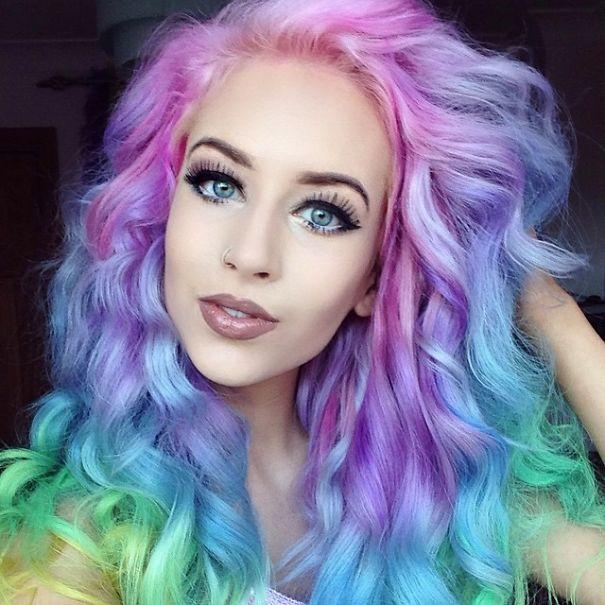 Радужная тенденция в мире причёсок