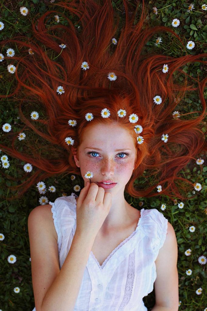 Потрясающие портреты рыжеволосых красавиц, олицетворяющие дух лета