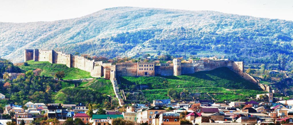 Крепость Нарын-кала в городе Дербент, Дагестан.