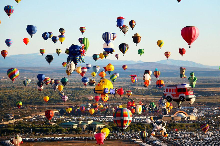 Фестиваль воздушных шаров в Альбукерке, США