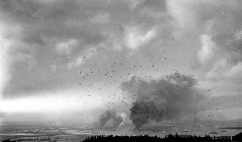 Вид на Перл-Харбор. Остров Оаху. Гавайские острова. США. 7 декабря 1941 года.
