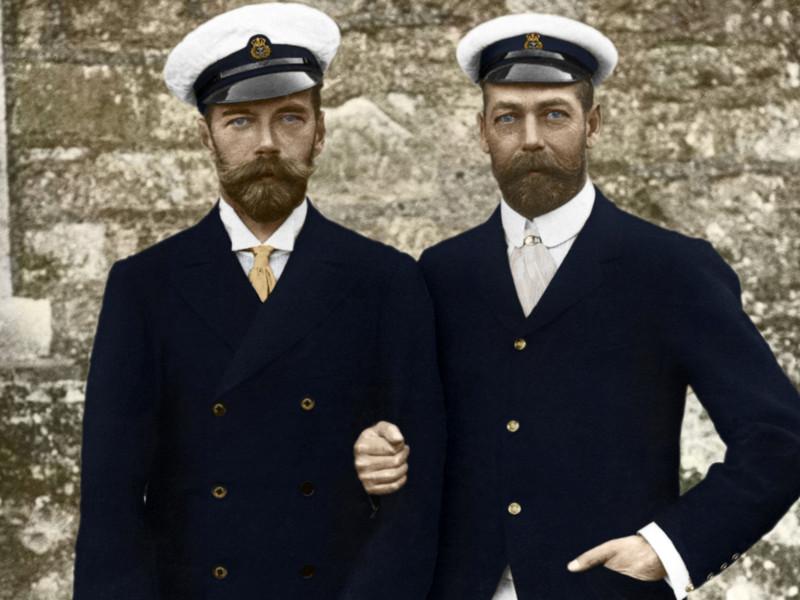 Всероссийский Император Николай II со своим двоюродным братом Английским Королём Георгом V.