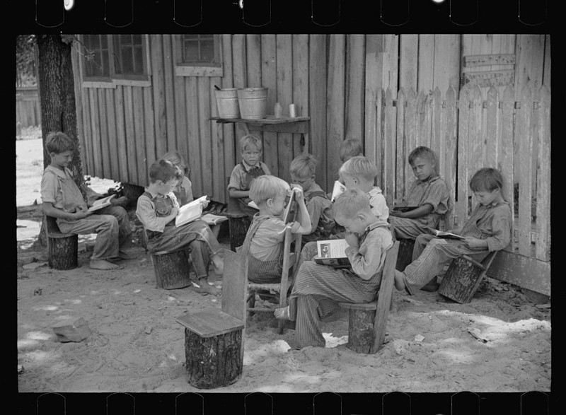 Школа на ферме. Штат Алабама. Июнь 1936.