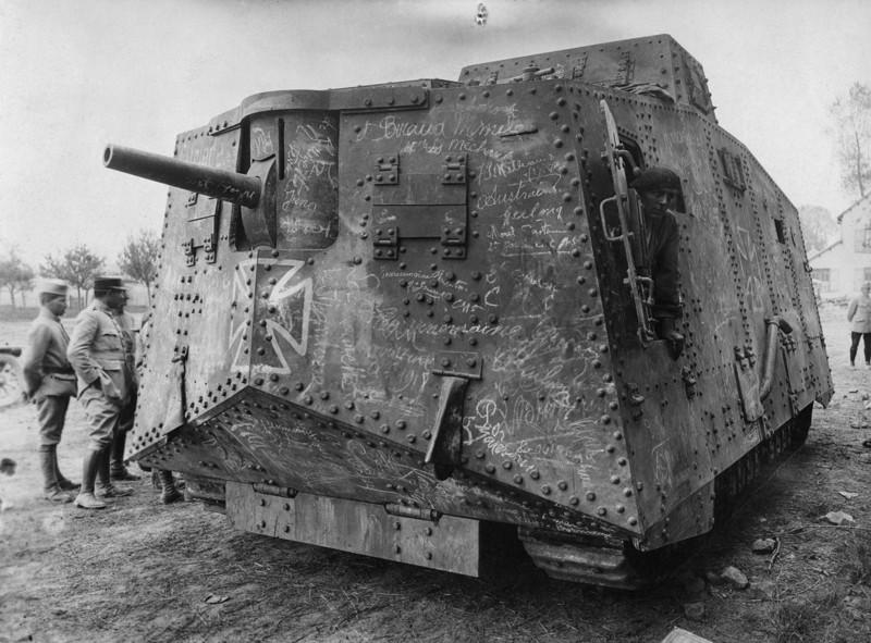 Немецкий тяжёлый танк A7V, Первая мировая война.