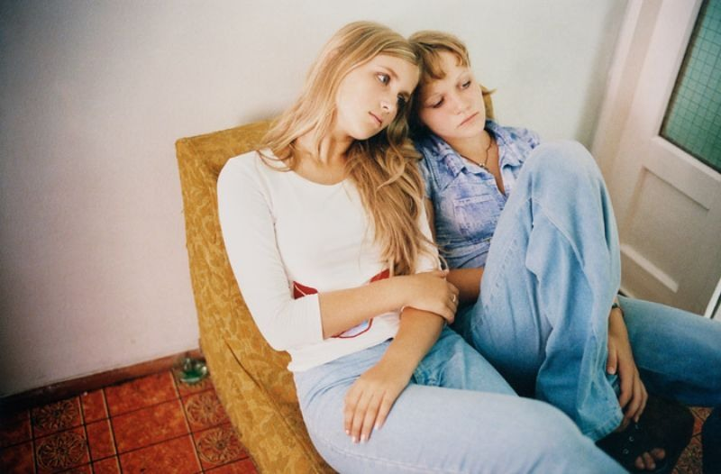 Катя и Оксана, 2002 год.
