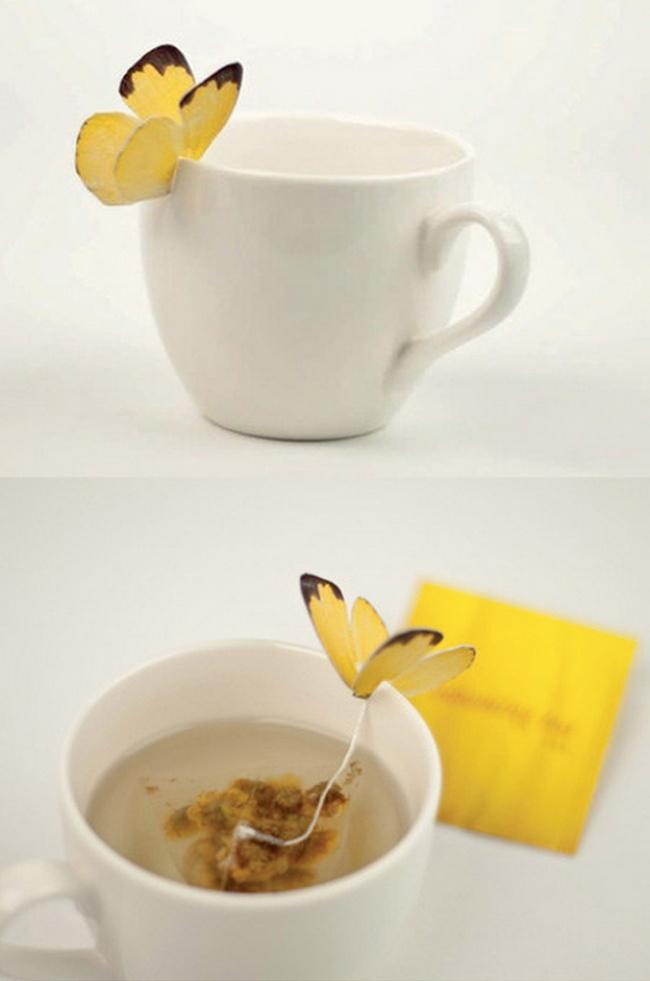 Чайный пакетик — бабочка