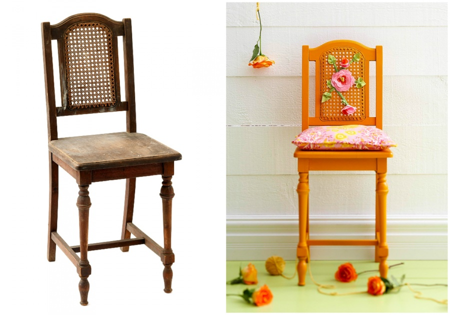 Потертый стул стал ярким предметом интерьера