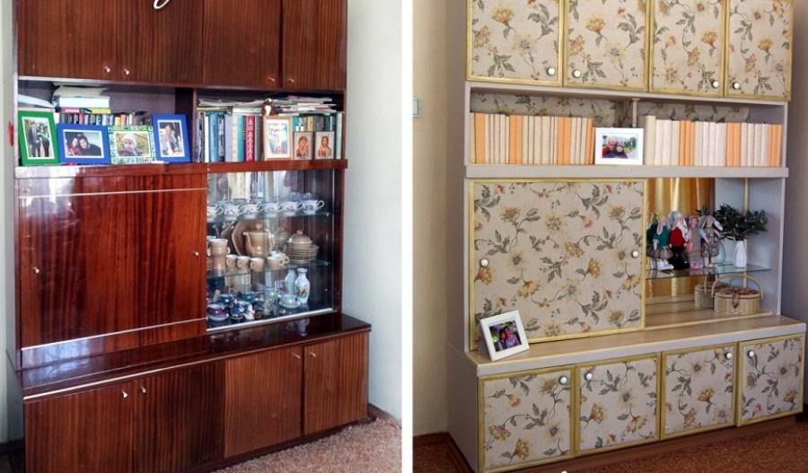 Старый бабушкин шкаф превратили в современный