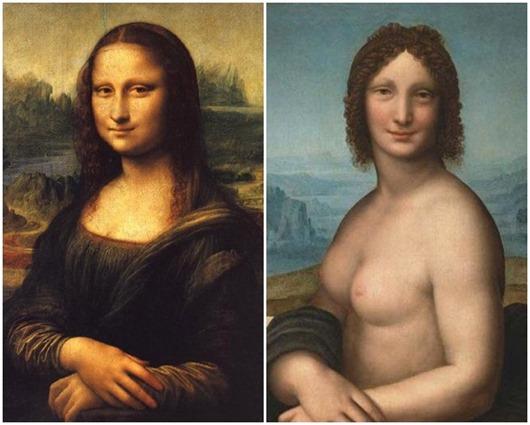 Знаменитая «Джоконда» существует в двух вариантах: обнаженная версия называется «Монна Ванна», ее написал малоизвестный художник Салаи, который был учеником и натурщиком великого Леонардо да Винчи. Многие искусствоведы уверены, что именно он был моделью для картин Леонардо «Иоанн Креститель» и «Бахус». Существуют также версии, что переодетый в женское платье Салаи послужил образом самой Моны Лизы.
