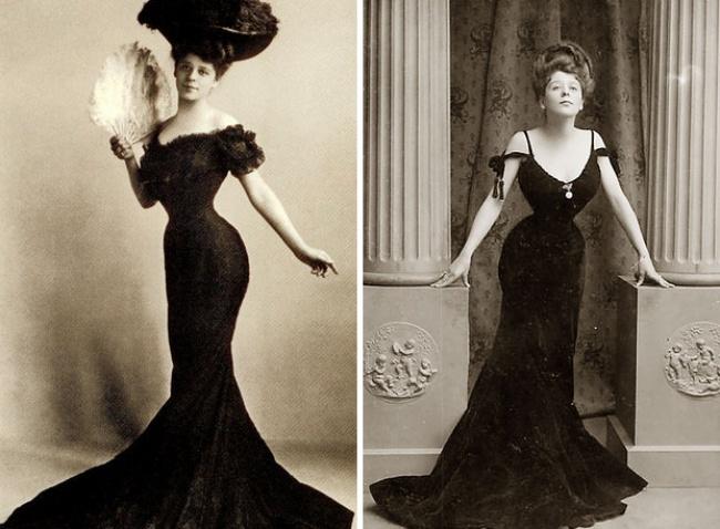 Идеал женской красоты, созданный американским иллюстратором Чарльзом Гибсоном на рубеже XIX и XX столетий. Женщины наперегонки бросились копировать отличительную черту этого образа: бесподобную женственную фигуру, похожую на цифру 8, которая достигалась благодаря крайне затянутому корсету.