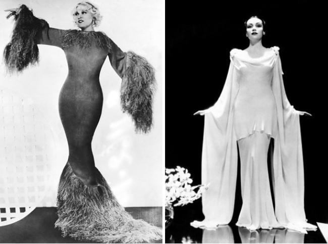 «Плоскогрудый» образ, столь популярный в 20-х годах, уступил место немного, но видимому бюсту. Долорес дель Рио была названа «лучшей фигурой Голливуда», а журналы воспевали мягкие округлости ее тела.