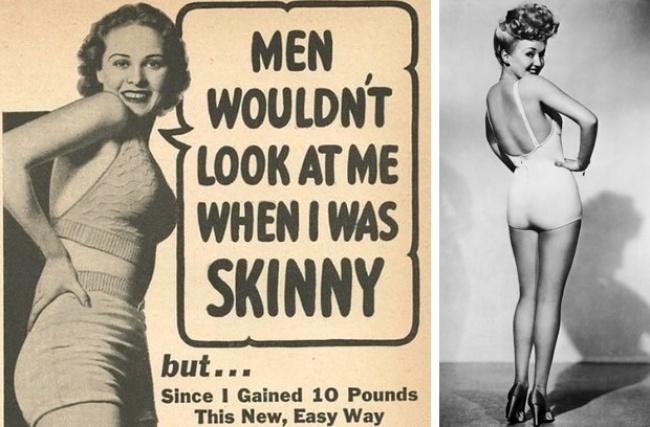 Вторая мировая война ввела в моду «солдатские» плечи (широкие, квадратные, агрессивные). Миром моды стала править угловатость форм. Женщины должны были быть здоровыми и трудоспособными, а значит, сильными и мощными.