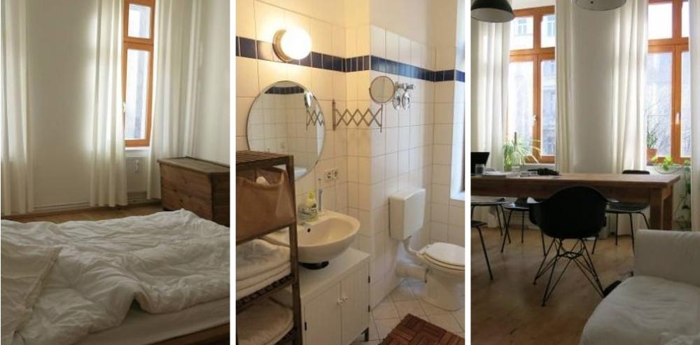 Место: Розенталер Плац. Одна спальня, совмещенный санузел. Светло, приятный дизайн.