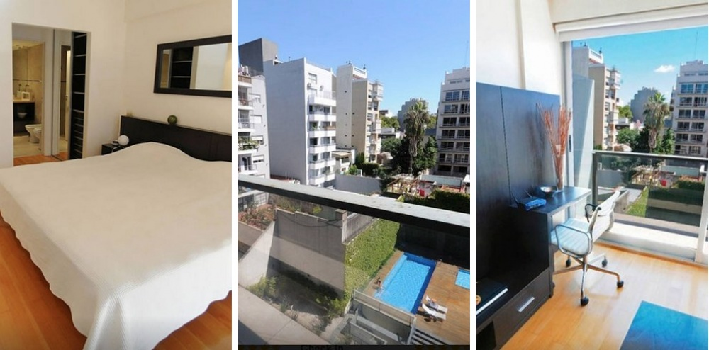 Место: Палермо Голливуд 1 спальня. Во дворе бассейн и тренажеры для занятий спортом.