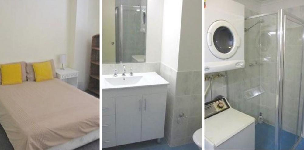 Место: Центральный деловой район. 1 спальня. Маленький санузел, стиральная машинка.