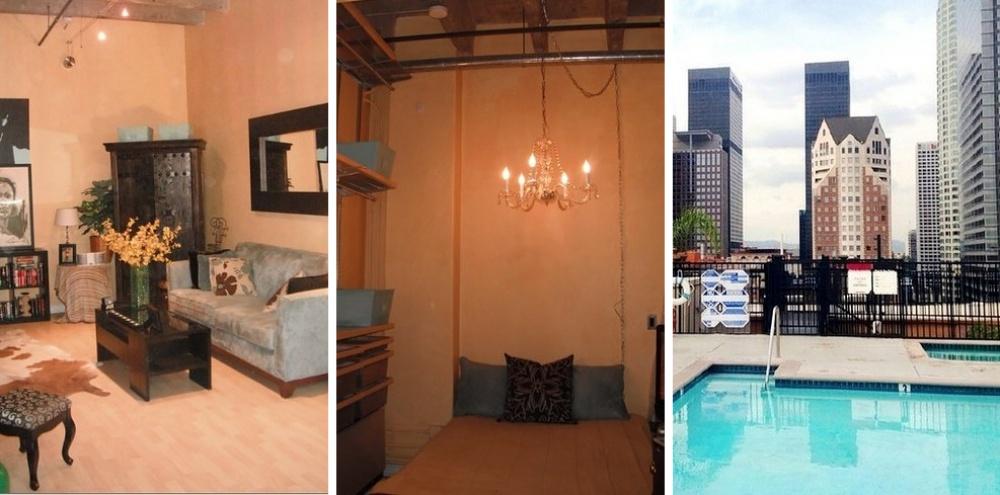 Место: Даунтаун. Квартира-студия с бассейном на крыше. Фанатам готики понравится.