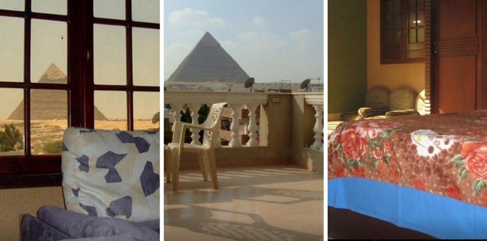 Место: 200 метров от пирамид. 4 спальные комнаты, 1 ванная. Кондиционер.