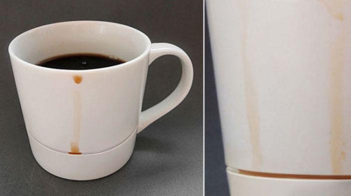 Чашка, не оставляющая разводов на столе