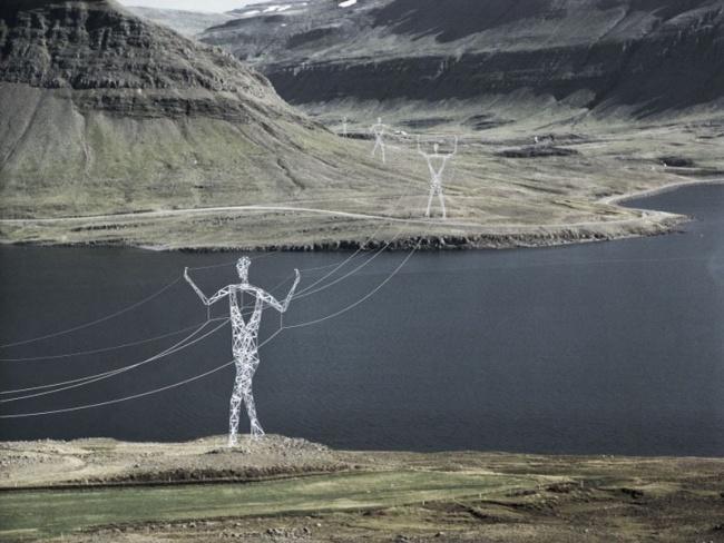 Проект столбов ЛЭП в виде великанов «Земля гигантов».