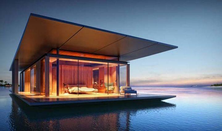Разработал дом Дмитрий Мальцев для французского дизайнера, который специализируется на плавающих конструкциях.