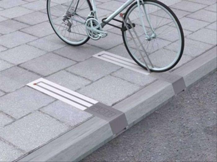Велосипедные стойки, не занимающие места