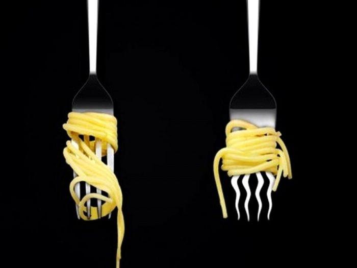 Кривая вилка, с которой не соскальзывает спагетти