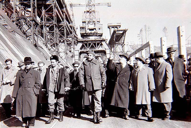 Посещение строительства Братской ГЭС