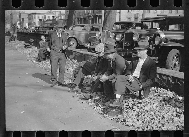Общественный парк, Манчестер, Нью-Гэмпшир. Август 1936 года.