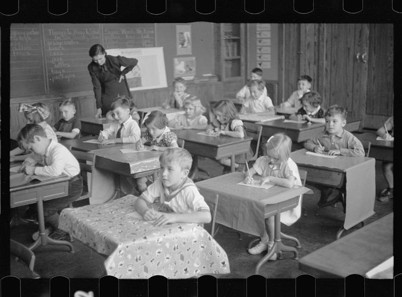 Школьный класс, Вашингтон. Ноябрь 1937 года.