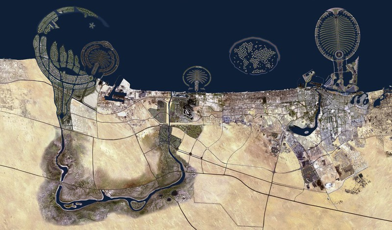 Несомненно, с воздуха Дубай выглядит потрясающе