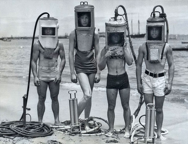 Дайверы, 1940-е годы.
